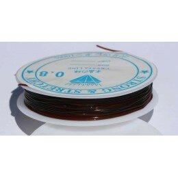Fil élastique 0.8 mm x 6 m marron