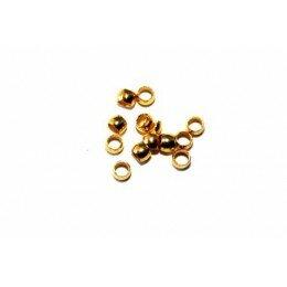Perles à écraser 3x2 mm doré x 50
