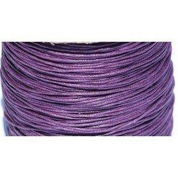 Coton ciré 0,7 mm violet x 5 m