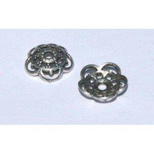 Coupelle ronde 10x3 mm mm argenté vieilli x 10