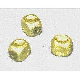 Perles magiques 8 mm jaune x 15