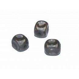Perles magiques 8 mm noir x 15