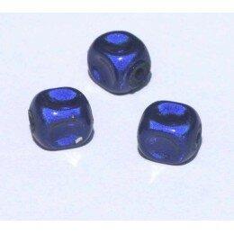 Perles magiques 8 mm bleu roi x 15