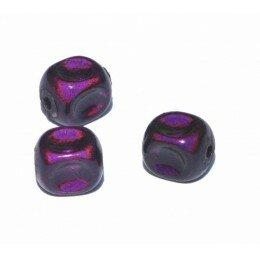 Perles magiques 8 mm violette x 15