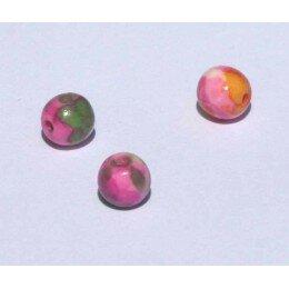 Perle ronde en jade teintèe 6 mm x 6