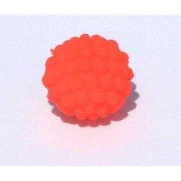 Perle shamballa orange fluo11 mm x 5