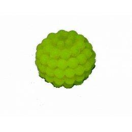 Perle shamballa jaune fluo11 mm x 5