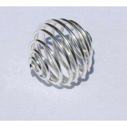 Cage à perle 14 mm argenté x 1