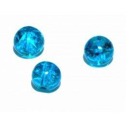 perle en verre craquelé 4 mm x 15 zircon