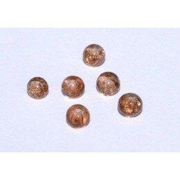 perle en verre craquelé 4 mm x 15 marron