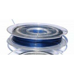 Fil cablé acier 7 brins 0,38 mm bleu x 10 m