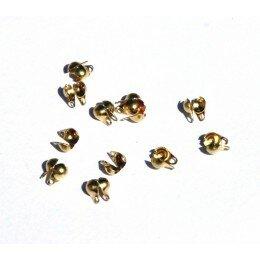Cache nœuds 6x5 mm doré x 10