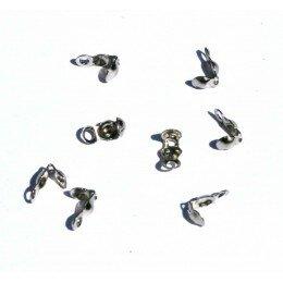 Cache nœuds 6x5 mm platine x 10