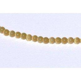 Perle Oeil de chat 4 mm jaune foncé x 20