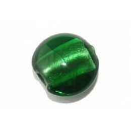 Bombée feuille d'argent 12 mm verte Emeraude x 4