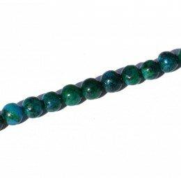 Perle jade teintée chrysocolle 8mm x 2