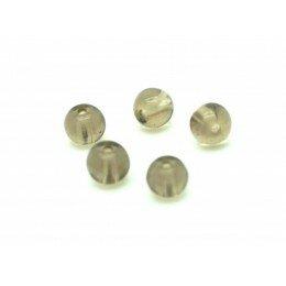 perle quartz ronde en quartz fumé 6mm x 5
