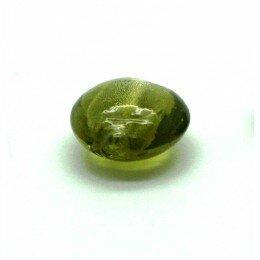 Bombée feuille d'argent 12 mm vert gris x 4