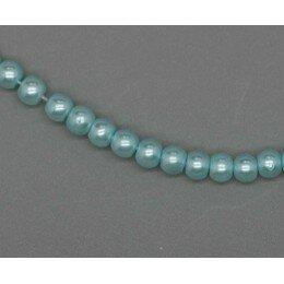 Perle ronde nacrée 3 mm 1 fil de ± 68 cm bleu ciel