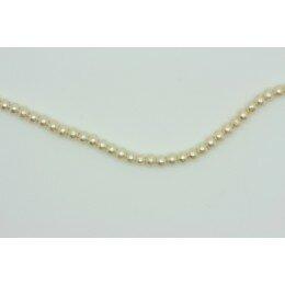 Perle ronde nacrée 3 mm 1 fil de ± 68 cm ivoire