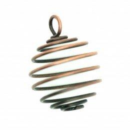Cage à perle 27x20 mm métal cuivré x 1
