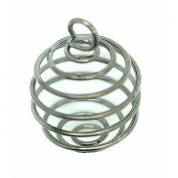 Cage à perle 27x20 mm métal couleur platine x 1
