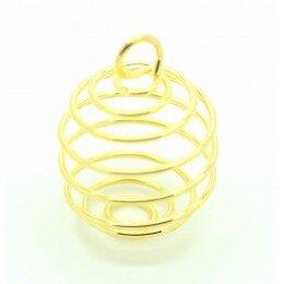 Cage à perle 27x20 mm en métal doré x 1