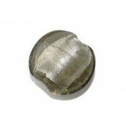 Bombée feuille d'argent 12 mm grise x 4