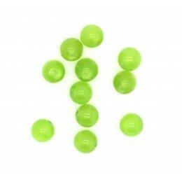Perle Oeil de chat 4 mm vert claire x 20