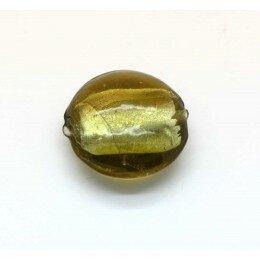 Bombée feuille d'argent 20 mm vert olive x 1
