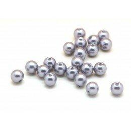 Perle nacrée 6 mm mauve x 40