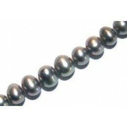 Perle d'eau douce 6 mm grise x 2