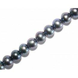 Perle d'eau douce 8 mm grise x 2
