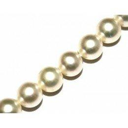 Perle d'eau douce 7-8 mm blanche irisée x 2