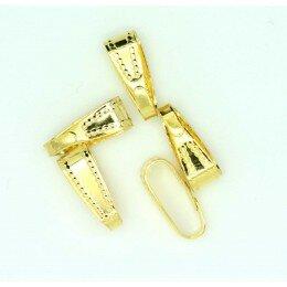 clips couleur dorée 11x4 mm x 4