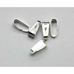 clips couleur argentée 11x4 mm x 4