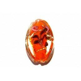 Olive plate décorée 27x17x9 mm orange x 2