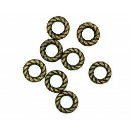Anneau 8x1,4 mm bronze vieilli x 10