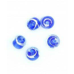 Perle Ronde irisée 8 mm bleu x 5