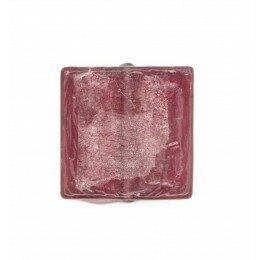 Carré plat feuille d'argent 15 mm couleur lie de vin x 2