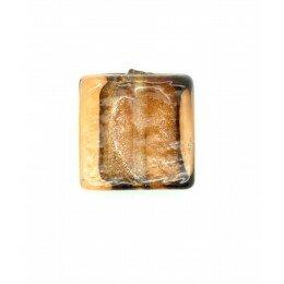 Carré plat feuille d'argent 15 mm marron clair x 2