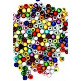 Perles magiques couleurs melangées 4mm x 50