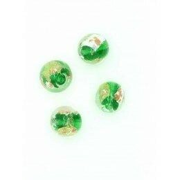 Perle ronde verre 12 mm verte x 1