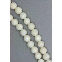 Perle corail blanc ronde 8 mm x 2