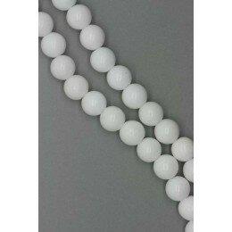 Perle onyx blanc naturel ronde 4,6 mm x 20