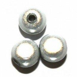 Perles magiques 14 mm gris clair x 1