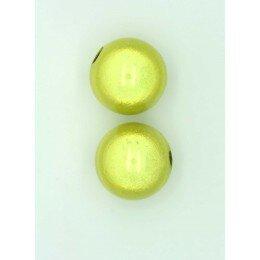Perle magique jaune olivine 12 mm x 4