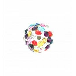 Perle Shamballa disco avec strass 10 mm x 1