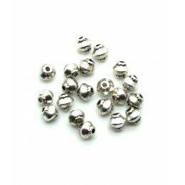 Perle intercalaire toupie 4,5x4,8 mm couleur argenté antique x 15