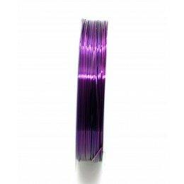 Bobine de fil à bijoux en cuivre violet 0.6 mm x 6 m